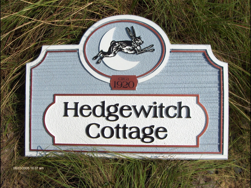 Hedgewitch cottage sandblasted house sign from classic signs nc 1024x768