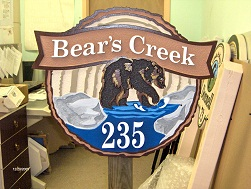 bears creek sandblasted cabin house sign from classic signs nc251x189