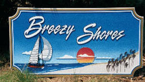 breezy shores sandblasted beach house home sign from classic signs nc 300x169