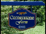 cornerstone farm hdu routed farm sign 23kt gold leaf with fox classic signs nc 160x120