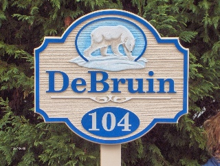 debruin sandblasted house sign from classic signs nc 320x240