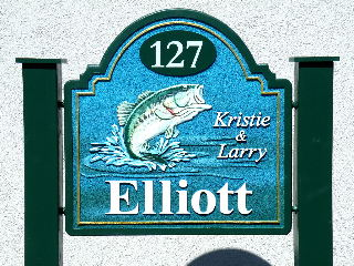 elliot sandblasted house home sign carved bass stone hdu finish from classic signs nc 320x240