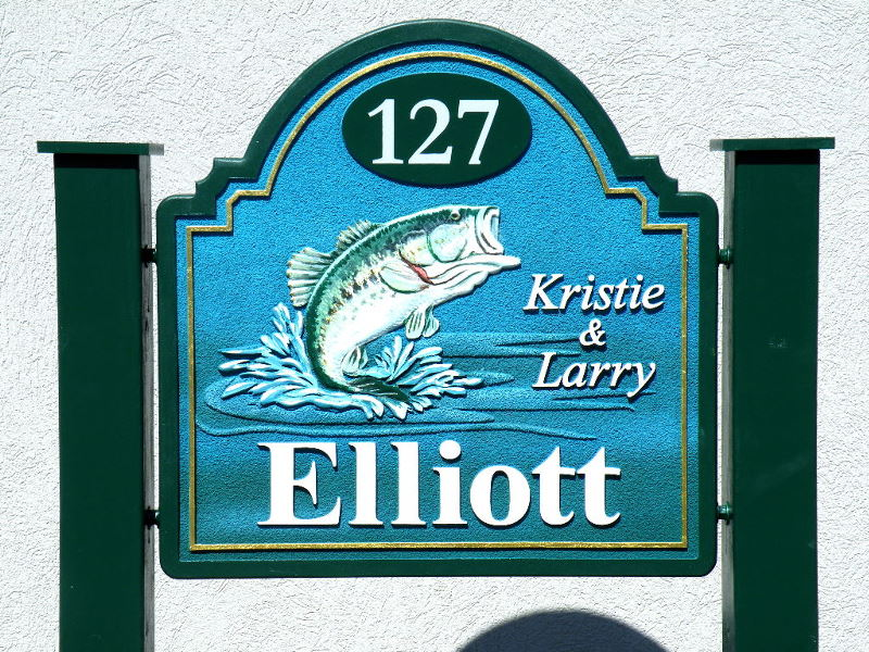 elliot sandblasted house home sign carved bass stone hdu finish from classic signs nc 800x600