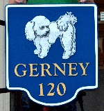 gerney sandblasted bichon house sign from classic signs nc 150x160