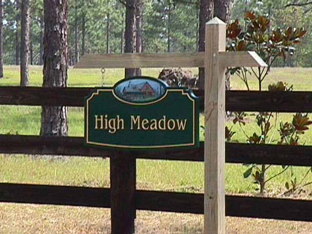 high meadow Farm custom sandblasted hand painted gold leaf classic signs nc