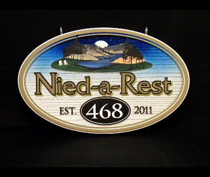 need a rest lakehouse sandblasted sign classic signs nc 426x360