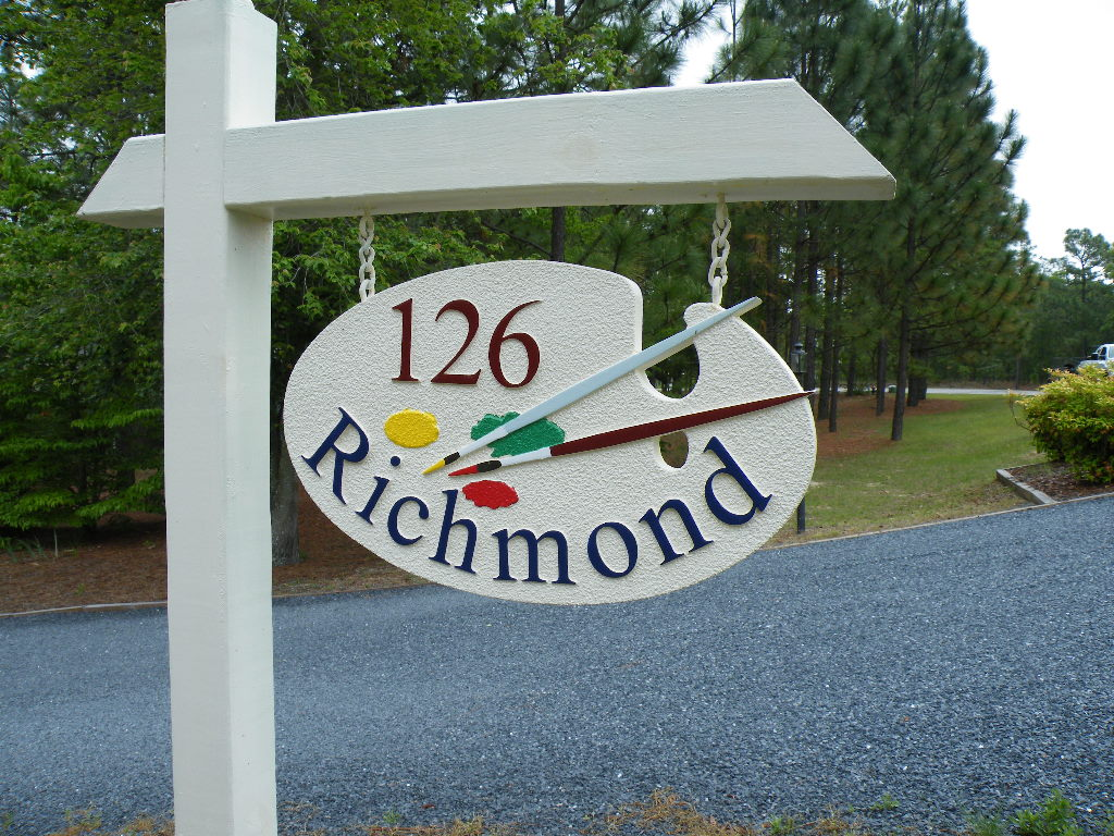 richmond house sign sandblasted hdu classic signs nc 1024x768