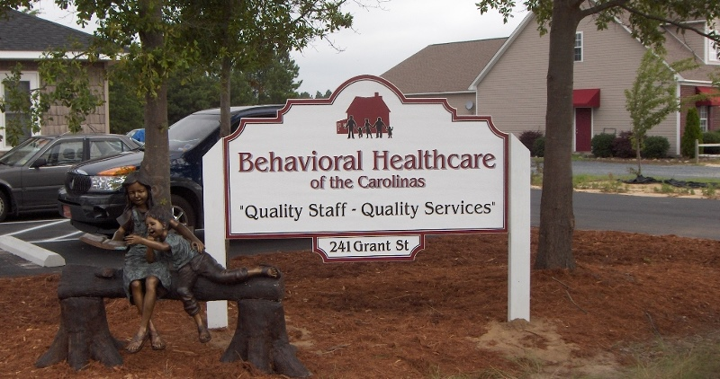 behavioral health caresandblasted medical post sign classic signs nc 800x422