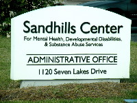 sandhills center hdu monument sign with appliqued 3d letters classic signs nc 200x150