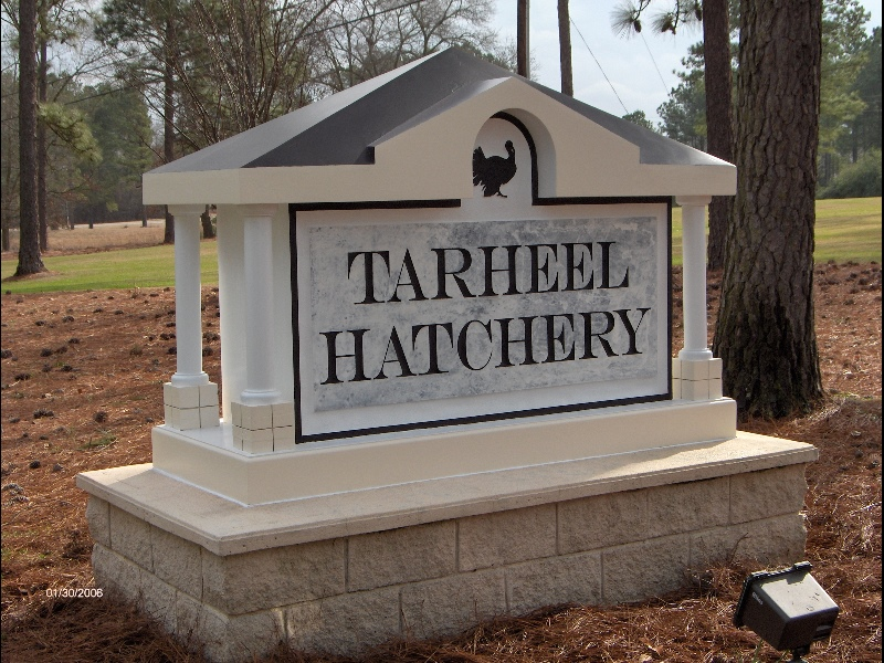 tarheel hatchery hdu monument from classic signs nc 800x600