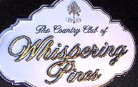Whispering pines golf club sandblasted monument sign with appliqued prismatic lettering from classic signs nc 200x127