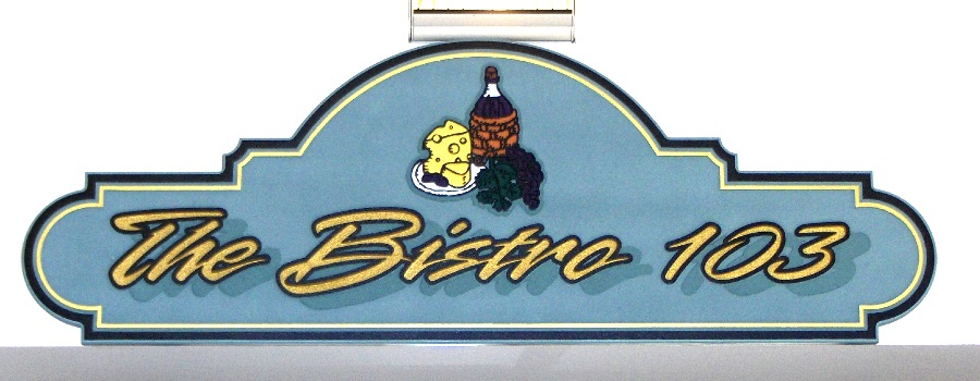 bistro sandblasted multi level sign classic signs nc 900 350