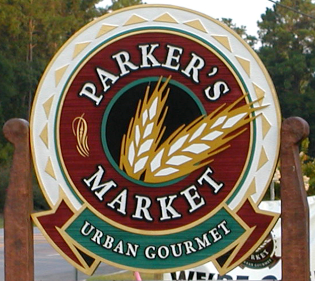 parkers market sand blasted wood grain and stone finish