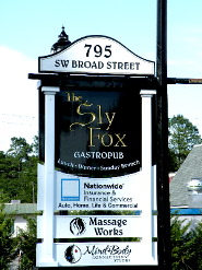 sly fox english pub sandblasted top bottom panels vgroove rout pub sign 23kt gold classic signs nc 185x247