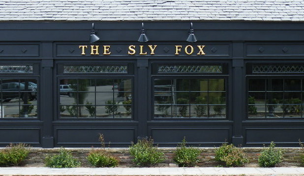 sly fox english pub sign formed letters with 23kt gold classic signs nc front 618x359