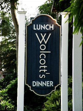 woolcotts reastaurant sandblasted hdu sign classic signs nc 320x240