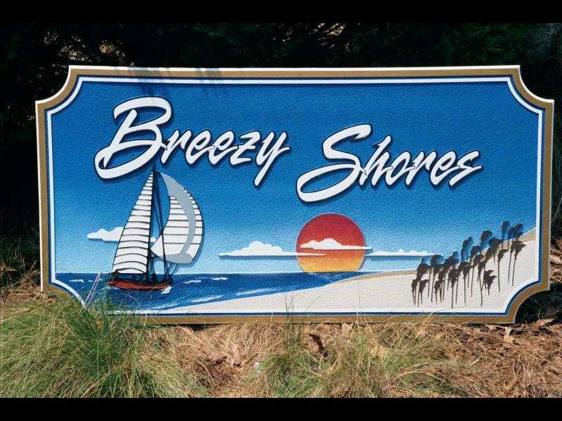 breezy shores sandb;asted hdu beach house sign classic signs nc 800x600