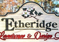 etheridge landscaope sandblasted hdu changeable copy woodgrain hdu classic signs nc 200x143