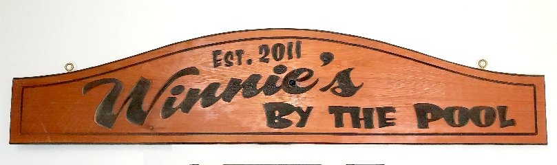 cedar sandblasted cabin RV sign 320x240
