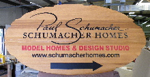 sandblasted cedar natural finish weathered edge schumacher main sign classic signs nc 220x180ish
