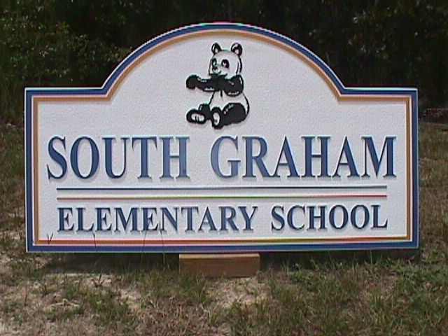 south graham school sandblasted hdu entrance sign classic signs nc