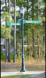 victorian style st sign lamp post reflective signs classic signs nc 160x273