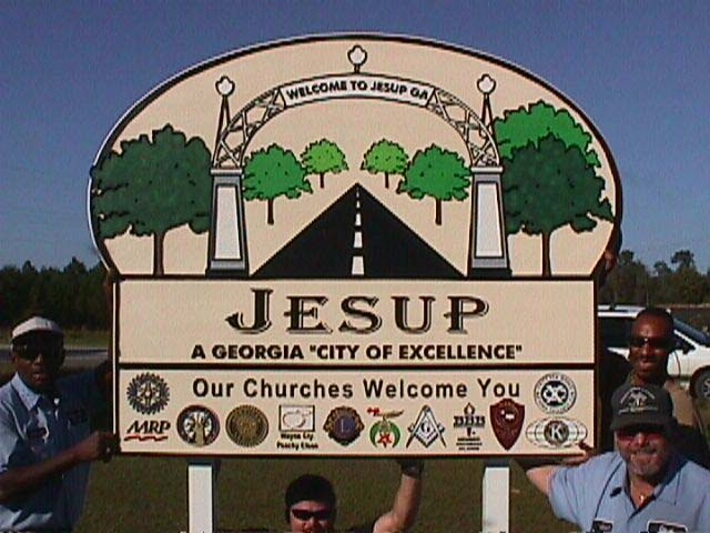 town of jesup classic signs nc 640x480