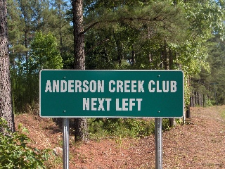 custom dot standard sign for anderson creek club 320x240