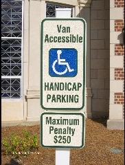 sandblasted custom handicap parking sign classic signs nc 182x240