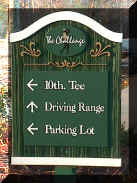 Challenge molded golf sign Classic Signs NC