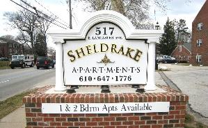 sheldrake apartments PVC hdu custom built monument sign classic signs nc-299x185